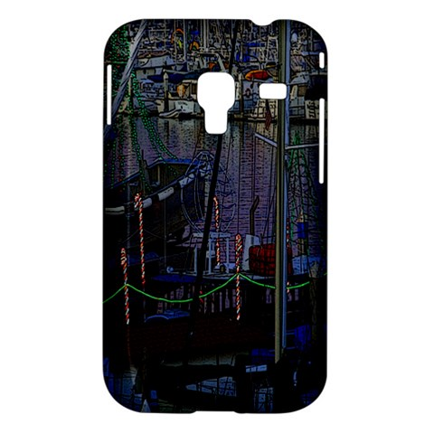 Christmas Boats In Harbor Samsung Galaxy Ace Plus S7500 Hardshell Case