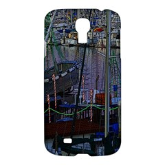 Christmas Boats In Harbor Samsung Galaxy S4 I9500/I9505 Hardshell Case