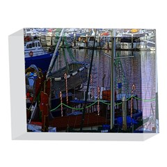 Christmas Boats In Harbor 5 x 7  Acrylic Photo Blocks