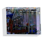 Christmas Boats In Harbor 5 x 7  Acrylic Photo Blocks Front