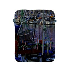 Christmas Boats In Harbor Apple iPad 2/3/4 Protective Soft Cases