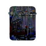 Christmas Boats In Harbor Apple iPad 2/3/4 Protective Soft Cases Front