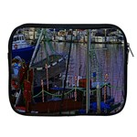 Christmas Boats In Harbor Apple iPad 2/3/4 Zipper Cases Front