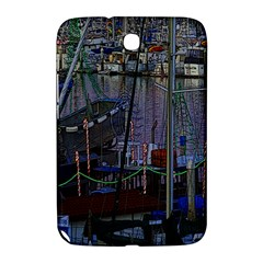 Christmas Boats In Harbor Samsung Galaxy Note 8.0 N5100 Hardshell Case