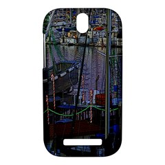 Christmas Boats In Harbor HTC One SV Hardshell Case