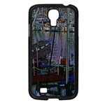 Christmas Boats In Harbor Samsung Galaxy S4 I9500/ I9505 Case (Black) Front