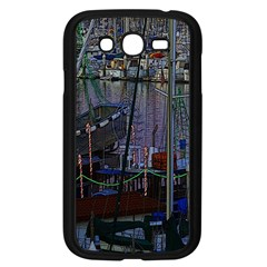 Christmas Boats In Harbor Samsung Galaxy Grand DUOS I9082 Case (Black)