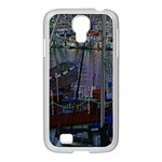 Christmas Boats In Harbor Samsung GALAXY S4 I9500/ I9505 Case (White) Front