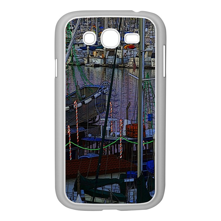 Christmas Boats In Harbor Samsung Galaxy Grand DUOS I9082 Case (White)