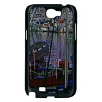 Christmas Boats In Harbor Samsung Galaxy Note 2 Case (Black) Front