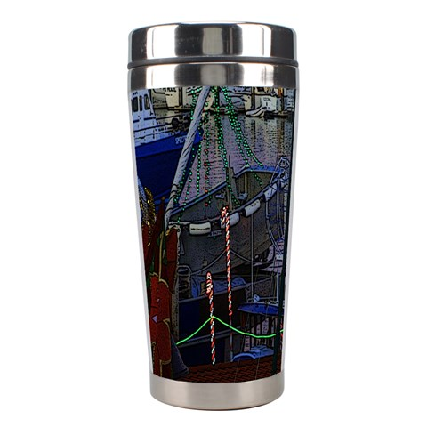 Christmas Boats In Harbor Stainless Steel Travel Tumblers
