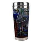 Christmas Boats In Harbor Stainless Steel Travel Tumblers Left