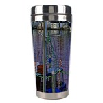 Christmas Boats In Harbor Stainless Steel Travel Tumblers Right