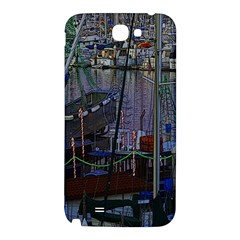 Christmas Boats In Harbor Samsung Note 2 N7100 Hardshell Back Case