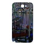 Christmas Boats In Harbor Samsung Note 2 N7100 Hardshell Back Case Front