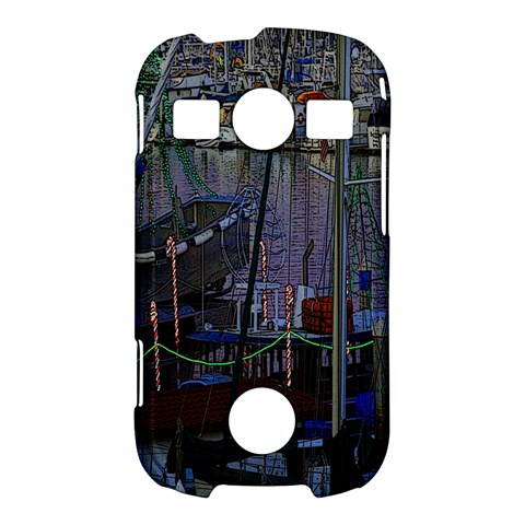 Christmas Boats In Harbor Samsung Galaxy S7710 Xcover 2 Hardshell Case