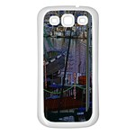 Christmas Boats In Harbor Samsung Galaxy S3 Back Case (White) Front