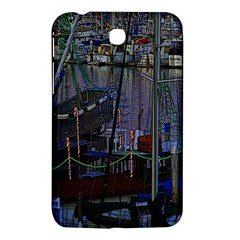 Christmas Boats In Harbor Samsung Galaxy Tab 3 (7 ) P3200 Hardshell Case