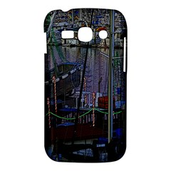 Christmas Boats In Harbor Samsung Galaxy Ace 3 S7272 Hardshell Case