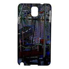 Christmas Boats In Harbor Samsung Galaxy Note 3 N9005 Hardshell Case
