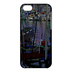 Christmas Boats In Harbor Apple iPhone 5C Hardshell Case