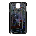 Christmas Boats In Harbor Samsung Galaxy Note 3 N9005 Case (Black) Front