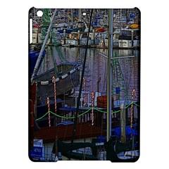 Christmas Boats In Harbor iPad Air Hardshell Cases