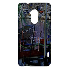 Christmas Boats In Harbor HTC One Max (T6) Hardshell Case