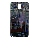 Christmas Boats In Harbor Samsung Galaxy Note 3 N9005 Hardshell Back Case Front