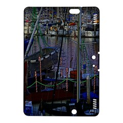 Christmas Boats In Harbor Kindle Fire HDX 8.9  Hardshell Case