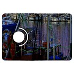 Christmas Boats In Harbor Kindle Fire HDX Flip 360 Case Front