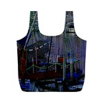 Christmas Boats In Harbor Full Print Recycle Bags (M)  Back