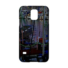 Christmas Boats In Harbor Samsung Galaxy S5 Hardshell Case