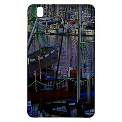Christmas Boats In Harbor Samsung Galaxy Tab Pro 8.4 Hardshell Case