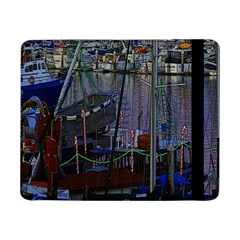 Christmas Boats In Harbor Samsung Galaxy Tab Pro 8.4  Flip Case
