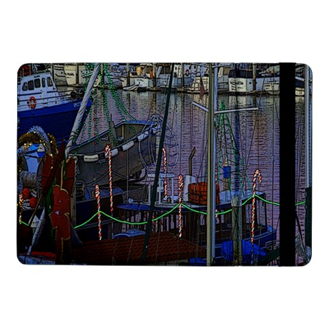 Christmas Boats In Harbor Samsung Galaxy Tab Pro 10.1  Flip Case