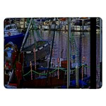 Christmas Boats In Harbor Samsung Galaxy Tab Pro 12.2  Flip Case Front