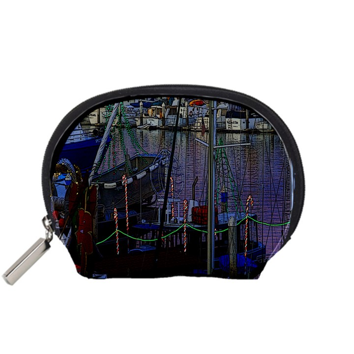 Christmas Boats In Harbor Accessory Pouches (Small)