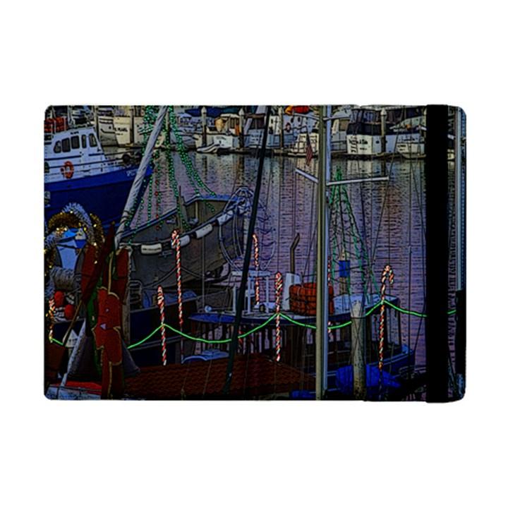 Christmas Boats In Harbor iPad Mini 2 Flip Cases