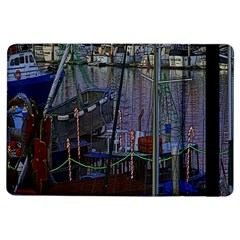 Christmas Boats In Harbor iPad Air Flip