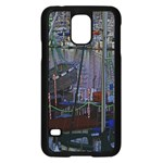 Christmas Boats In Harbor Samsung Galaxy S5 Case (Black) Front