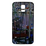 Christmas Boats In Harbor Samsung Galaxy S5 Back Case (White) Front