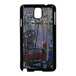 Christmas Boats In Harbor Samsung Galaxy Note 3 Neo Hardshell Case (Black) Front