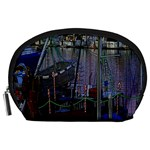 Christmas Boats In Harbor Accessory Pouches (Large)  Front