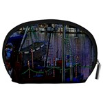 Christmas Boats In Harbor Accessory Pouches (Large)  Back