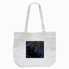 Christmas Boats In Harbor Tote Bag (White)