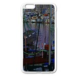 Christmas Boats In Harbor Apple iPhone 6 Plus/6S Plus Enamel White Case Front