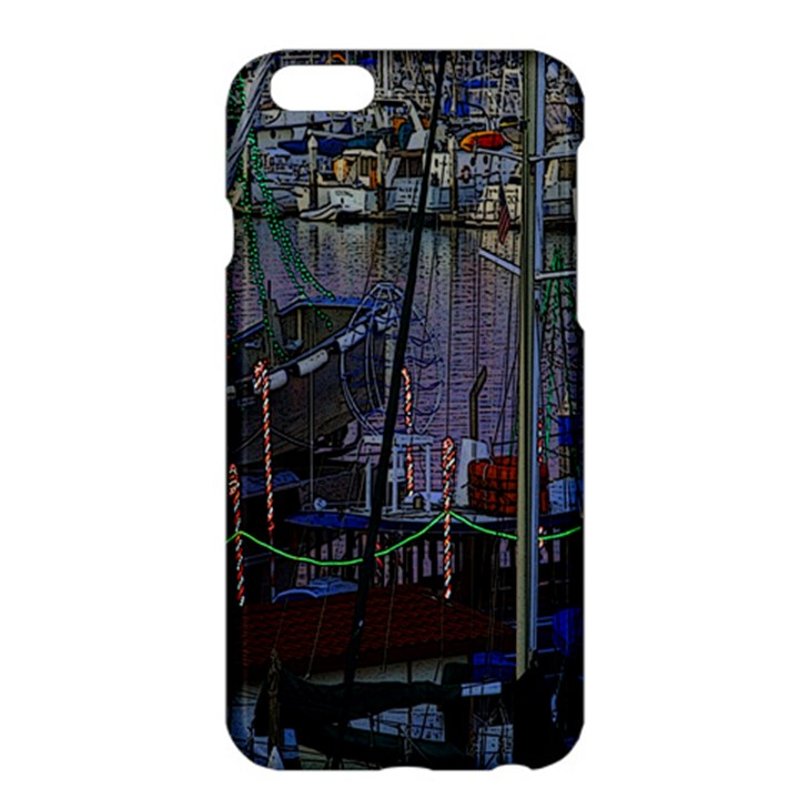 Christmas Boats In Harbor Apple iPhone 6 Plus/6S Plus Hardshell Case