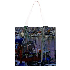 Christmas Boats In Harbor Grocery Light Tote Bag