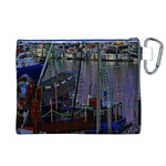 Christmas Boats In Harbor Canvas Cosmetic Bag (XL) Back
